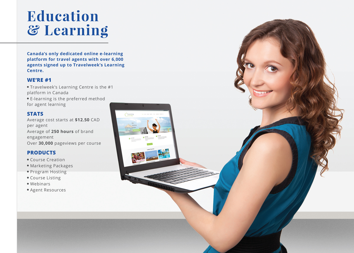 create and promote online courses to Canadian travel agents