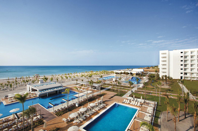 Aerial-view-over-pools-at-Riu-Playa-Blanca