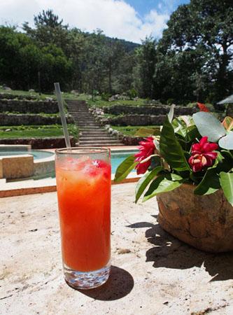 Enjoying-a-drink-at-La-Casa-de-Lourdes