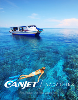 canjet vacations brochure in travel agencies this week