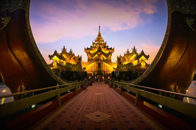 Karaweik palace in Yangon, Myanmar.