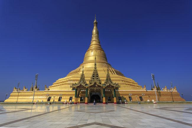 Uppatasanti Pagoda is a prominent landmark in Nay Pyi Taw.