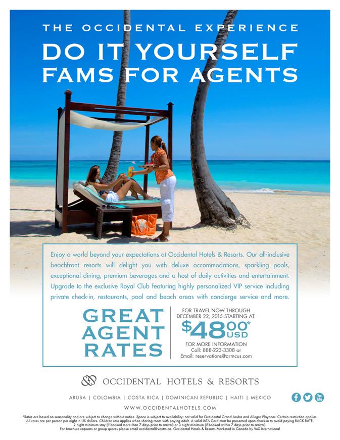 Occidental Travel Agent Rates