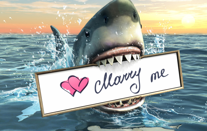 A Marriage Proposal With Sharks On Valentine S Day