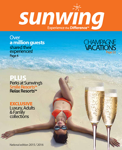 sunwing vacations new 2015 16 brochure