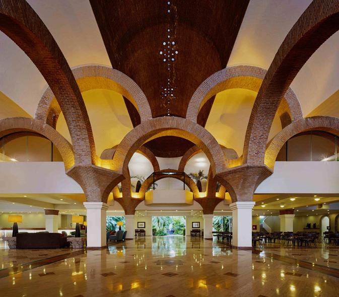 The beautiful lobby entrance to Velas Vallarta
