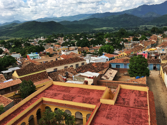 View from the Belltower over the city of Trinidad