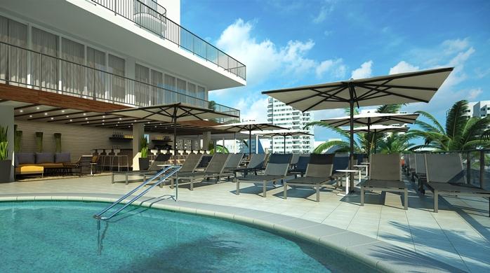 Reno d 623 room hilton garden inn waikiki beach is the for Pool design honolulu