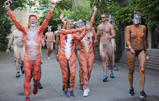 nude girls with tigers