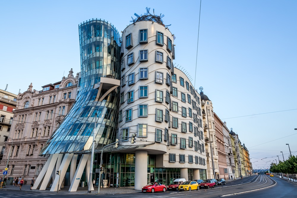 Part of prague 39 s iconic dancing house turns into hotel for Quirky hotels in prague