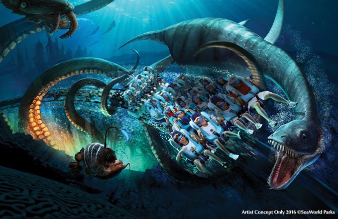 Kraken Virtual Reality (VR) Roller Coaster