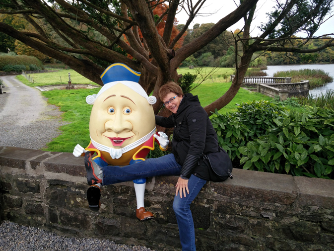 Dorice tries not meet the same fate as Humpty Dumpty at Wesport House
