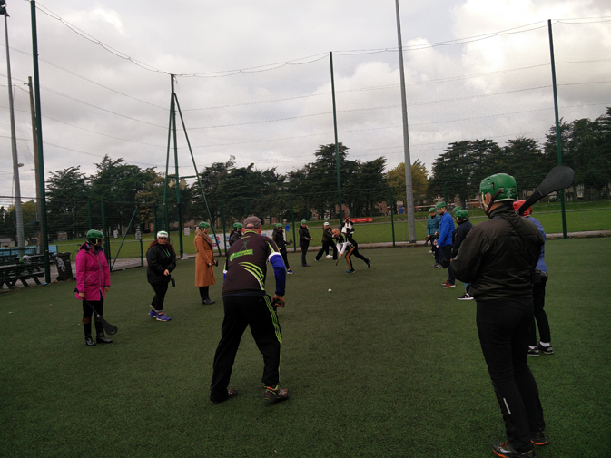 The agents enjoying the Gaelic Games Experience