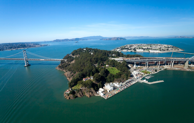 San Francisco Bay Bridge And Treasure Island