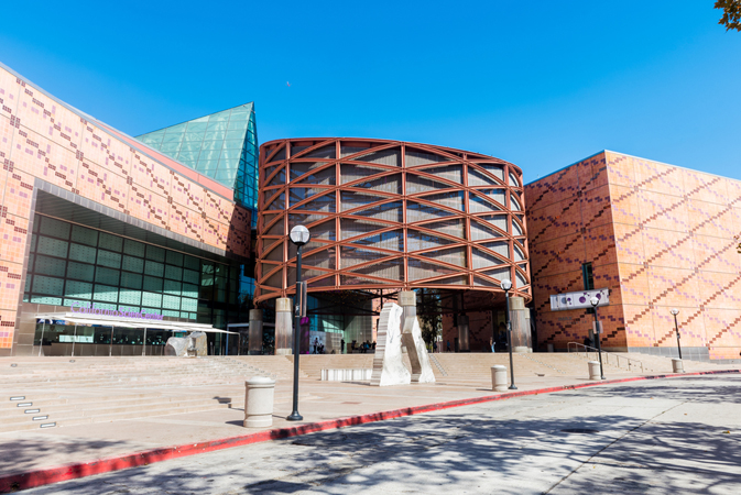 The California Science Center museum located in Exposition Park, Los Angeles