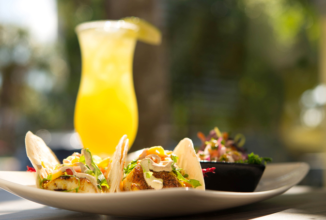 Fish tacos at Sirata Beach Resort