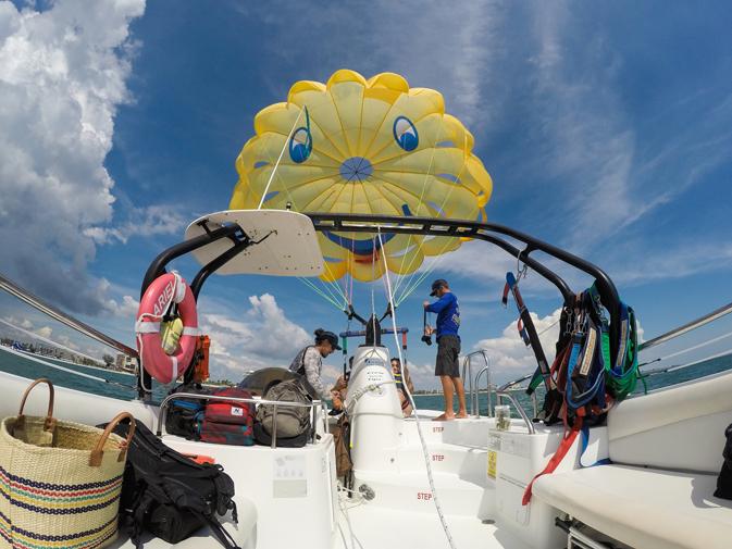 Parasailing at Sirata Beach Resort