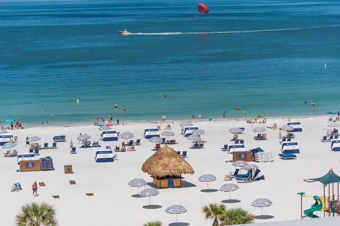 Sirata Beach Resort's expansive beachfront