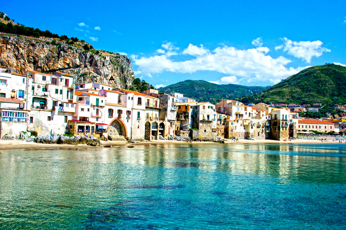 Beautiful coast of Cefalu, Palermo