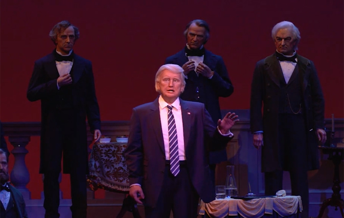 Robot Trump Debuts At Disney S Hall Of Presidents And The
