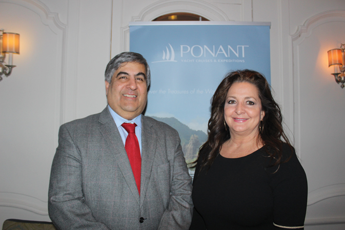 Navin Sawhney, CEO, Ponant USA and Theresa Gatta, VP Sales, North America