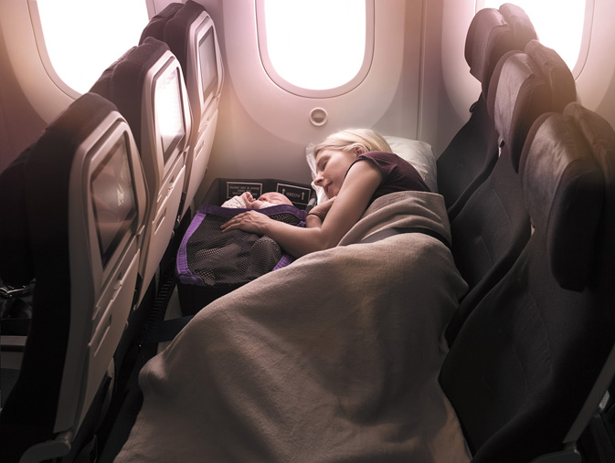 Air NZ Economy Skycouch Infant Pod