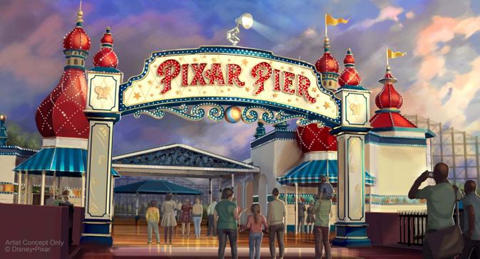 Pixar Pier at Disneyland Resort