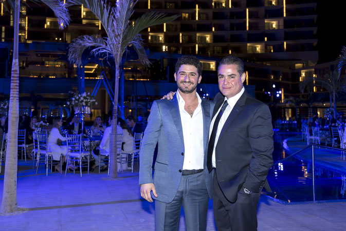 Gibran Chapur, Executive Vice President of Palace Resorts & Rene Virgilio, General Manager of Le Blanc Spa Resort Los Cabos