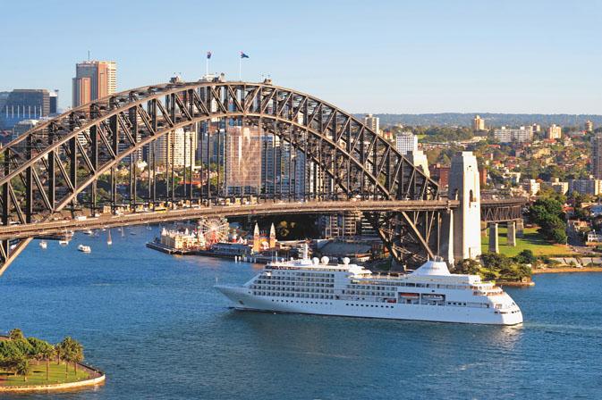 Silver Shadow in Sydney - credit Silversea Cruises