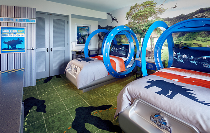 New Jurassic Park suites debut at Loews Royal Pacific Resort