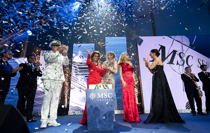 Stars come out for MSC Seaview's christening in Italy