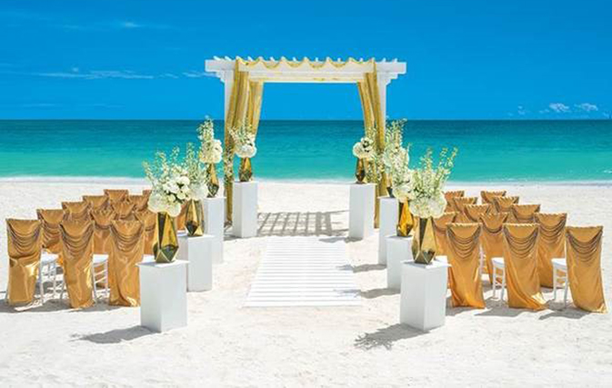 "Sandals Resorts adds ""metallic flair"" to weddings with new Inspiration"