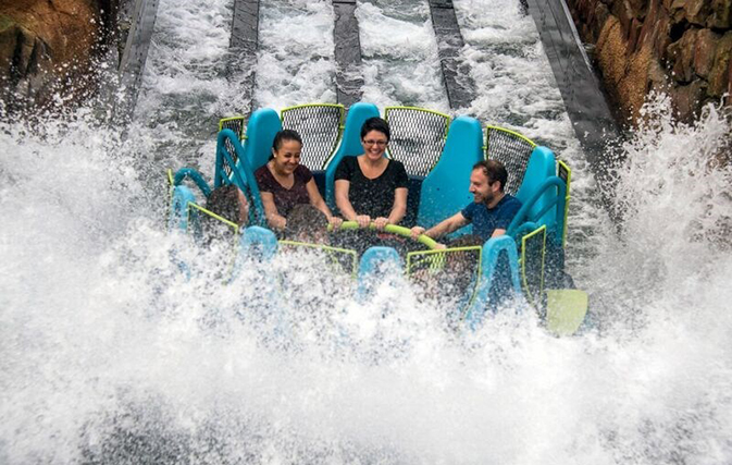 Ride the rapids at SeaWorld Orlando's new Infinity Falls, now open