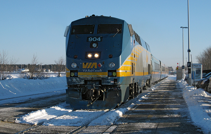 no injuries after via rail train goes off the tracks in. Black Bedroom Furniture Sets. Home Design Ideas