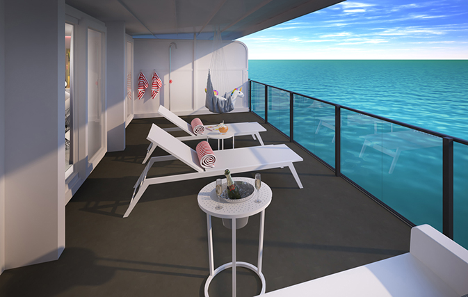 'Suite' new images and a call-out for agent bookings from Virgin Voyages, setting sail in 2020