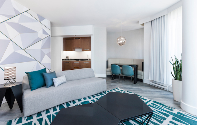 Prime location, king beds and luxe amenities at Montreal's all-suite Hôtel Le Crystal