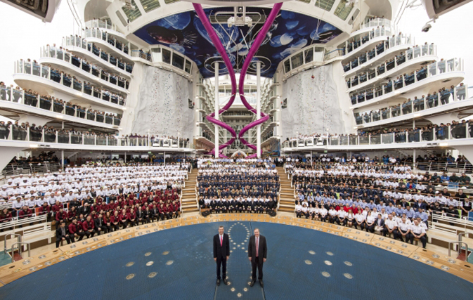 Royal Caribbean shows off Harmony of the Seas, world's largest cruise ship