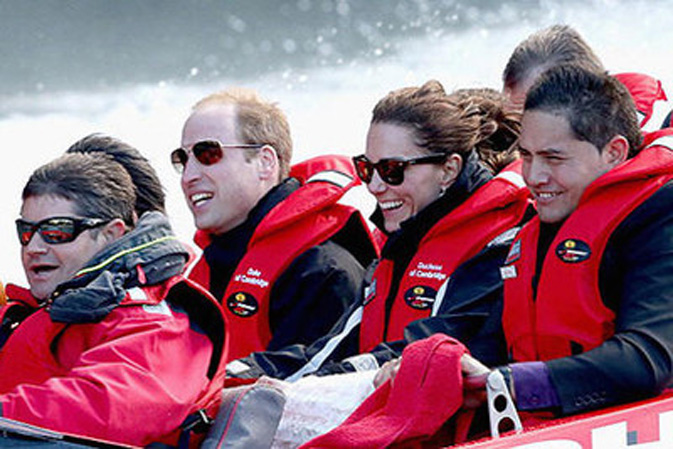 Even royalty has to do the Shotover Jet when in New Zealand