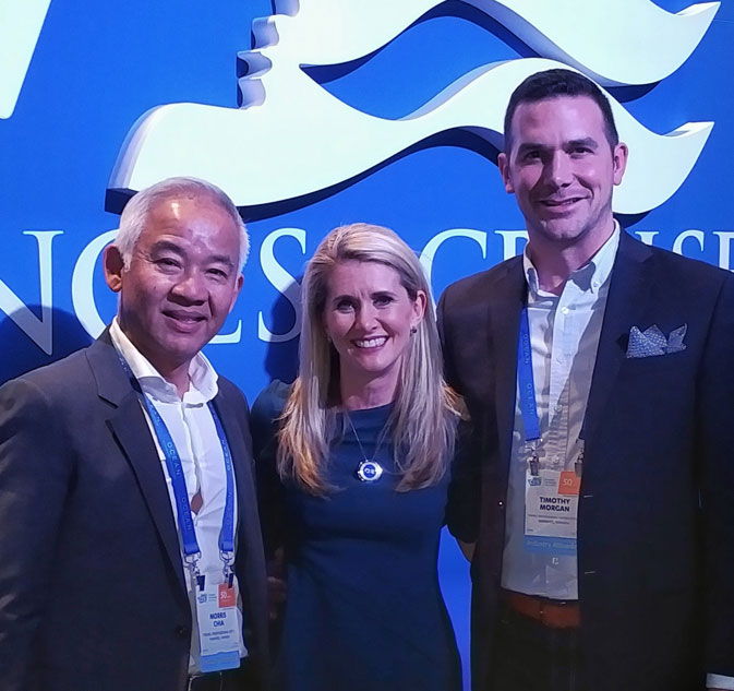 Morris Chia, TPI President & CEO; Jan Swartz, Princess Cruises President; Tim Morgan, TPI Vice President