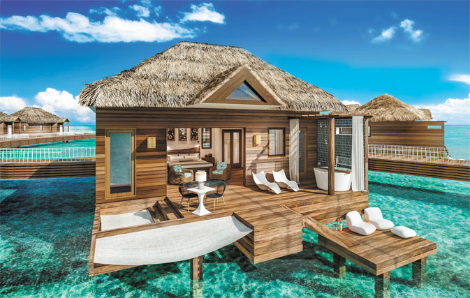 9 Overwater Bungalows Open At Sandals Grande St Lucian: Books Open On 9 New Over The Water Bungalows At Sandals
