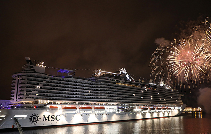 Stars come out for MSC Seaview's christening in Italy ...