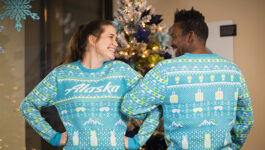 Alaska Airlines can't get enough of ugly holiday sweaters