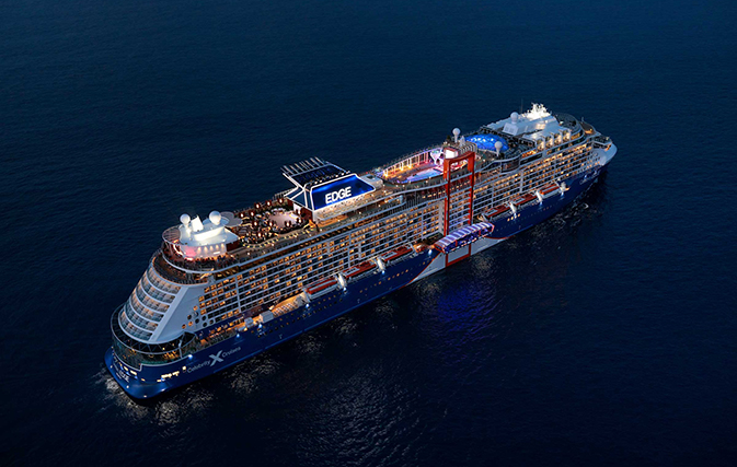 """Celebrity Edge enters fleet with official """"blessing"""" from historic godmother"""