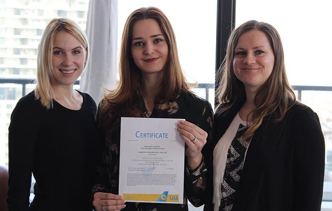 Webinar winner takes home prize from Ukraine International Airlines