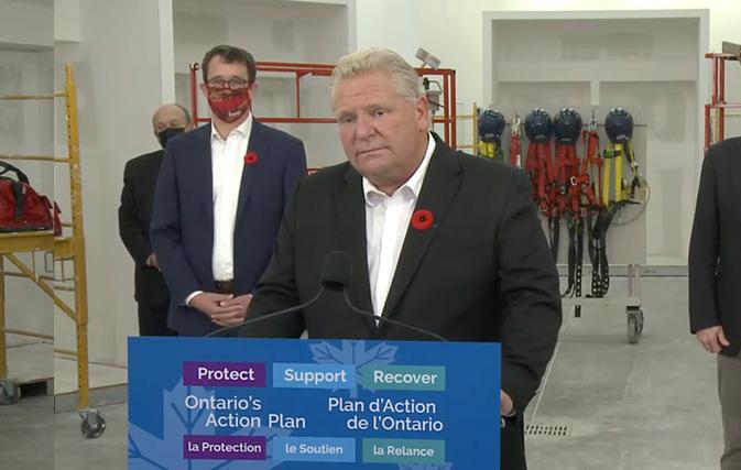 Ontario Premier wants COVID testing to help reduce 14-day quarantine