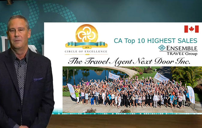 Travel Agent Next Door named #1 agency for Ensemble Canada