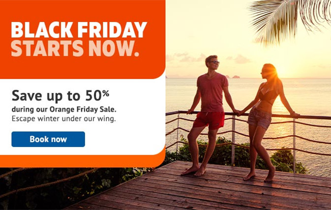 Sunwing's popular Orange Friday sale is back, with up to 50% off