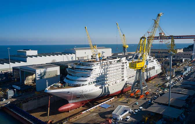 Silversea celebrates float-out of Silver Dawn