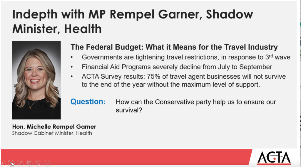 Input from MP Michelle Rempel Garner & Conference Board of Canada highlight ACTA's latest webinar