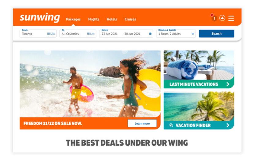 "Sunwing launches new ""modernized"" website"